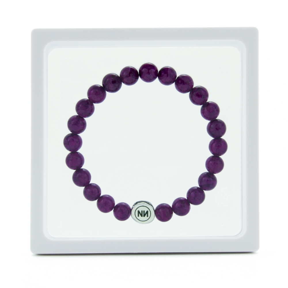 Nature of amethyst marble bracelet