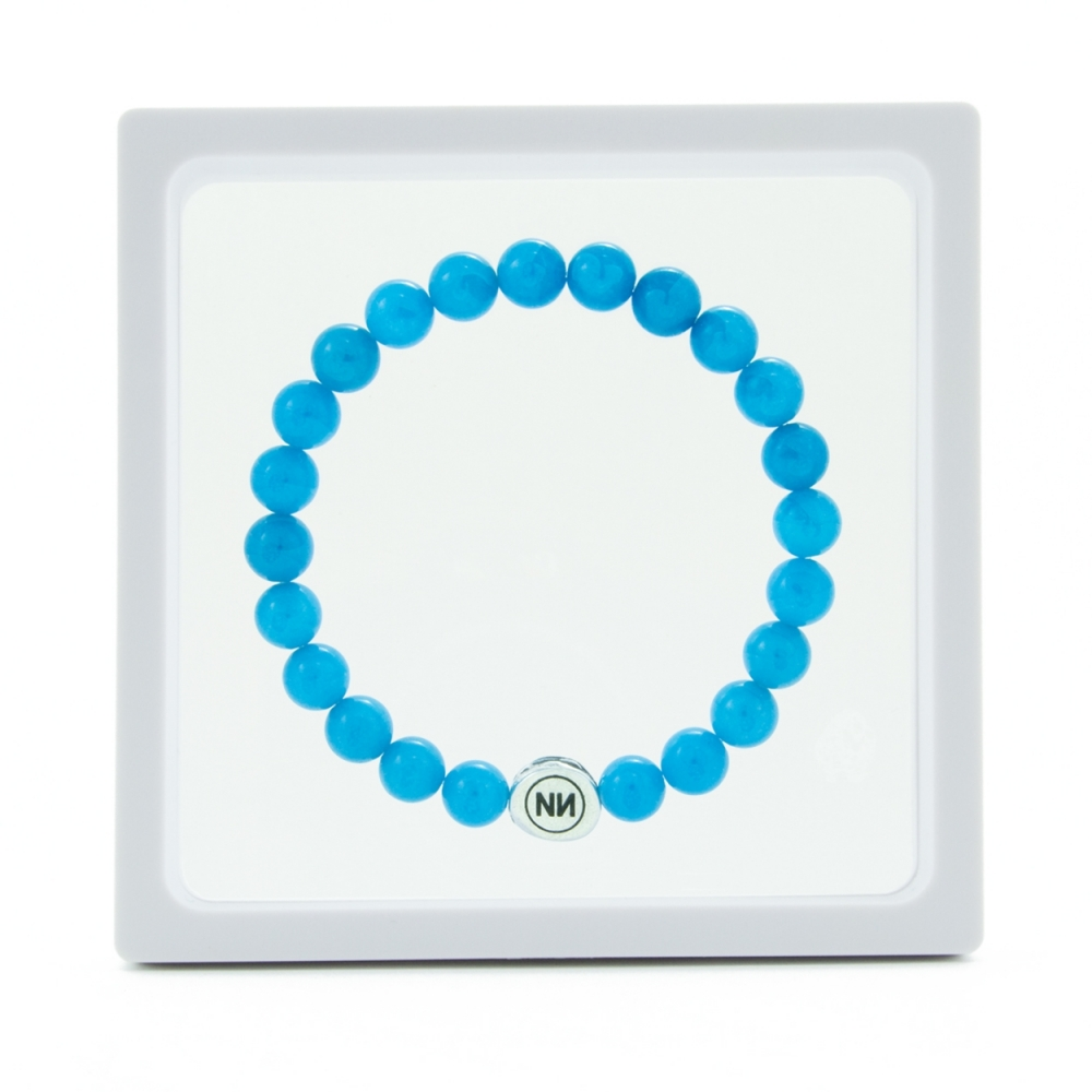 Nature of light blue marble bracelet