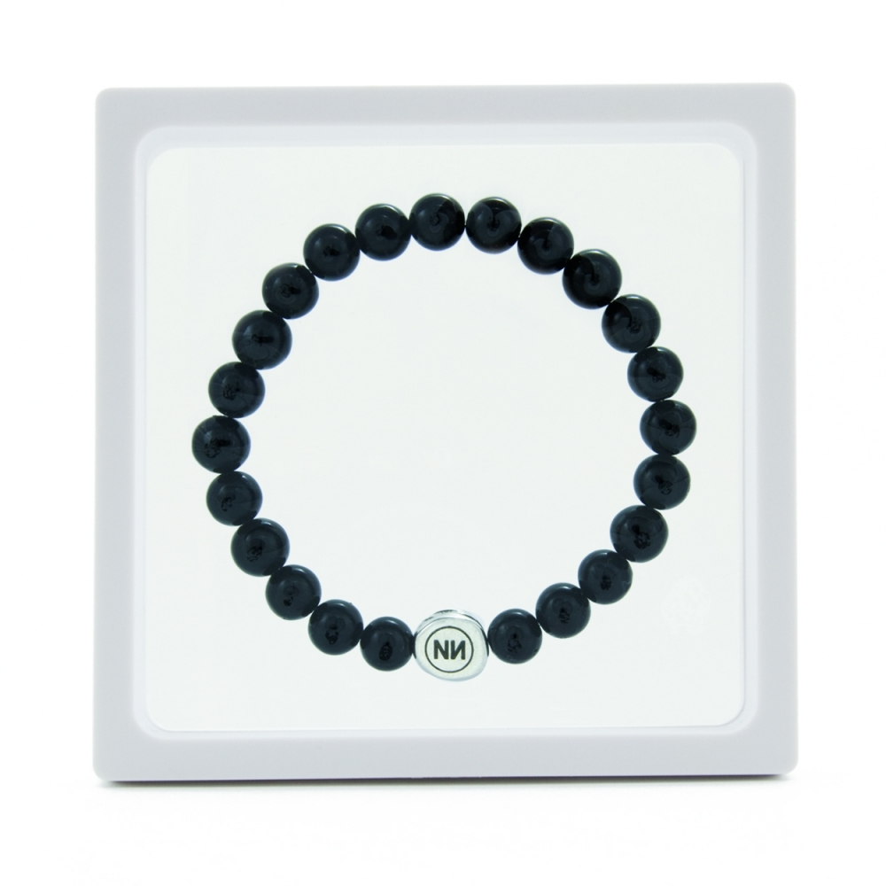 Nature of black marble bracelet
