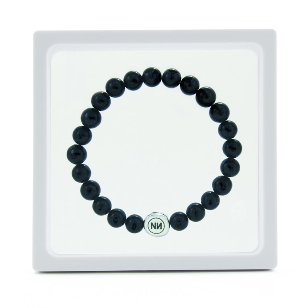 Pulsera naturaleza de mármol negro