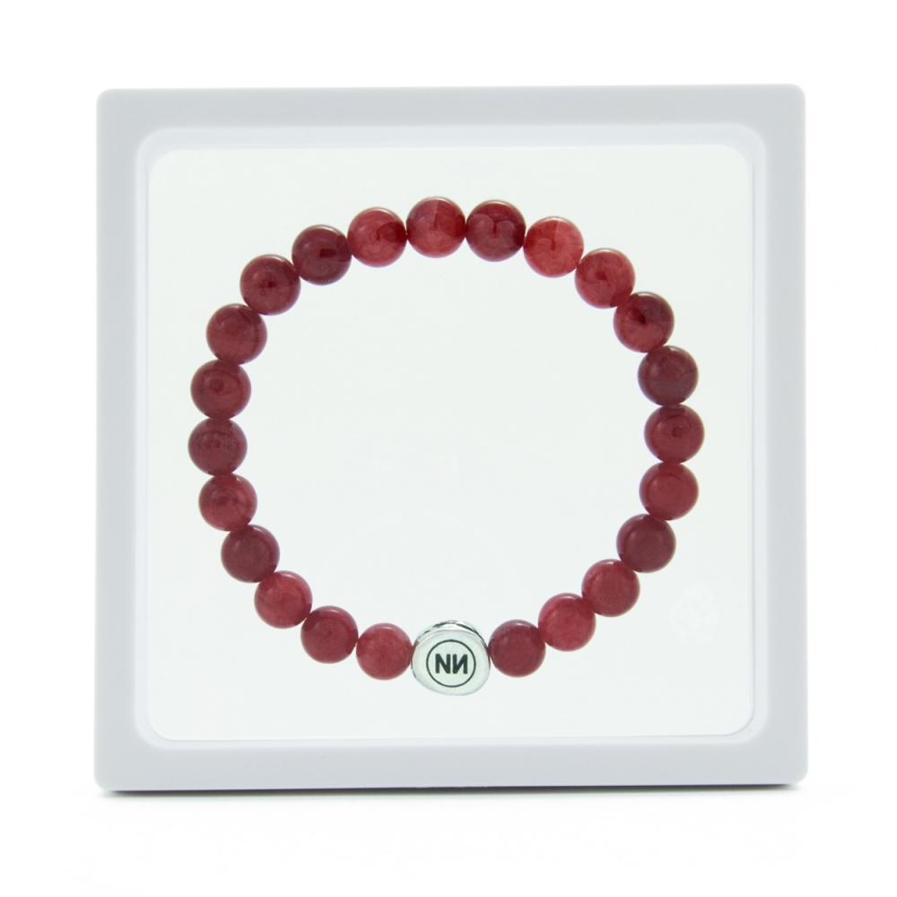 Nature of raspberry marble bracelet