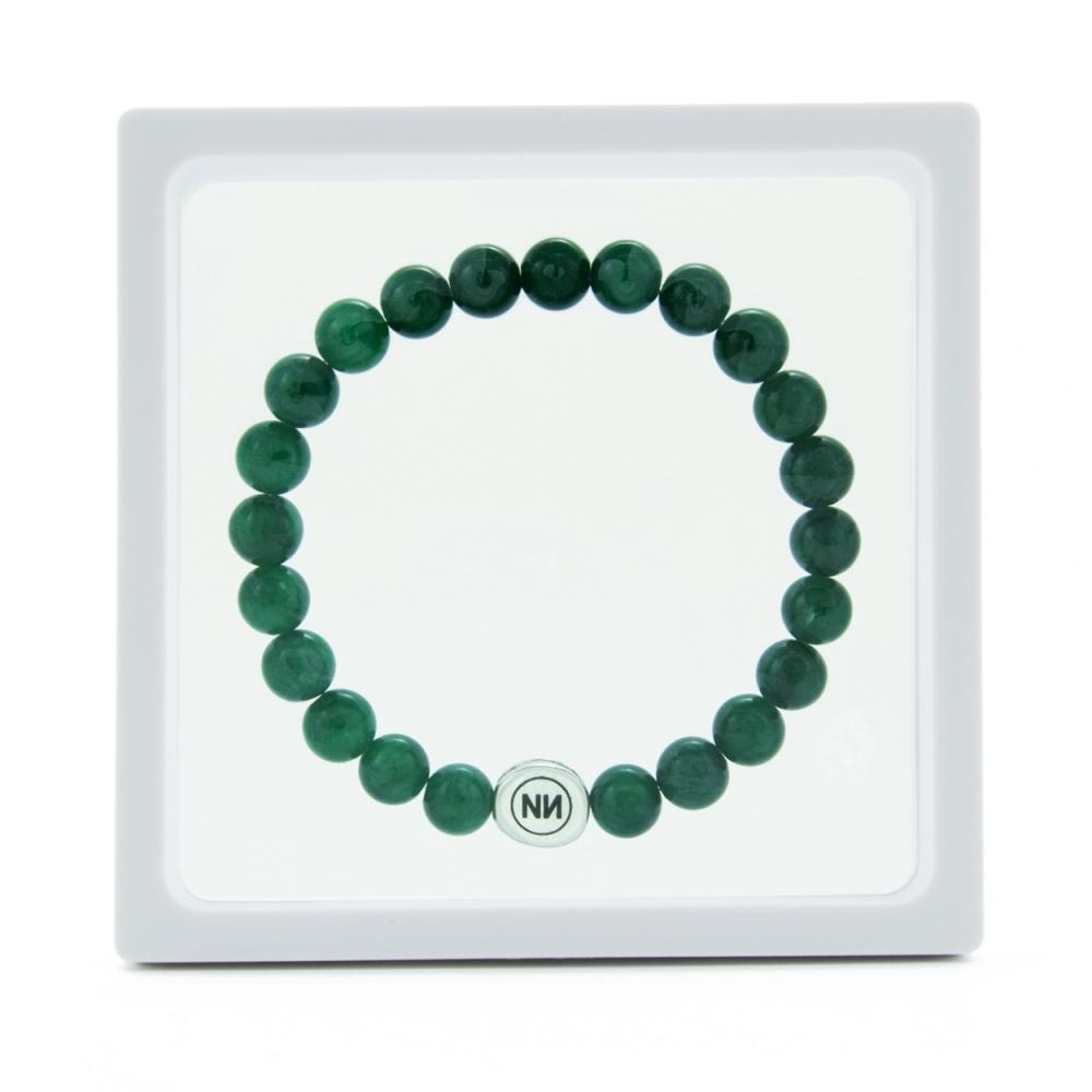 Pulsera naturaleza de mármol verde