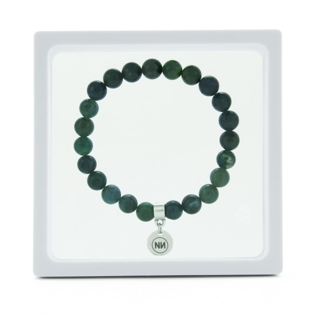 Biosphere moss bracelet with pendant