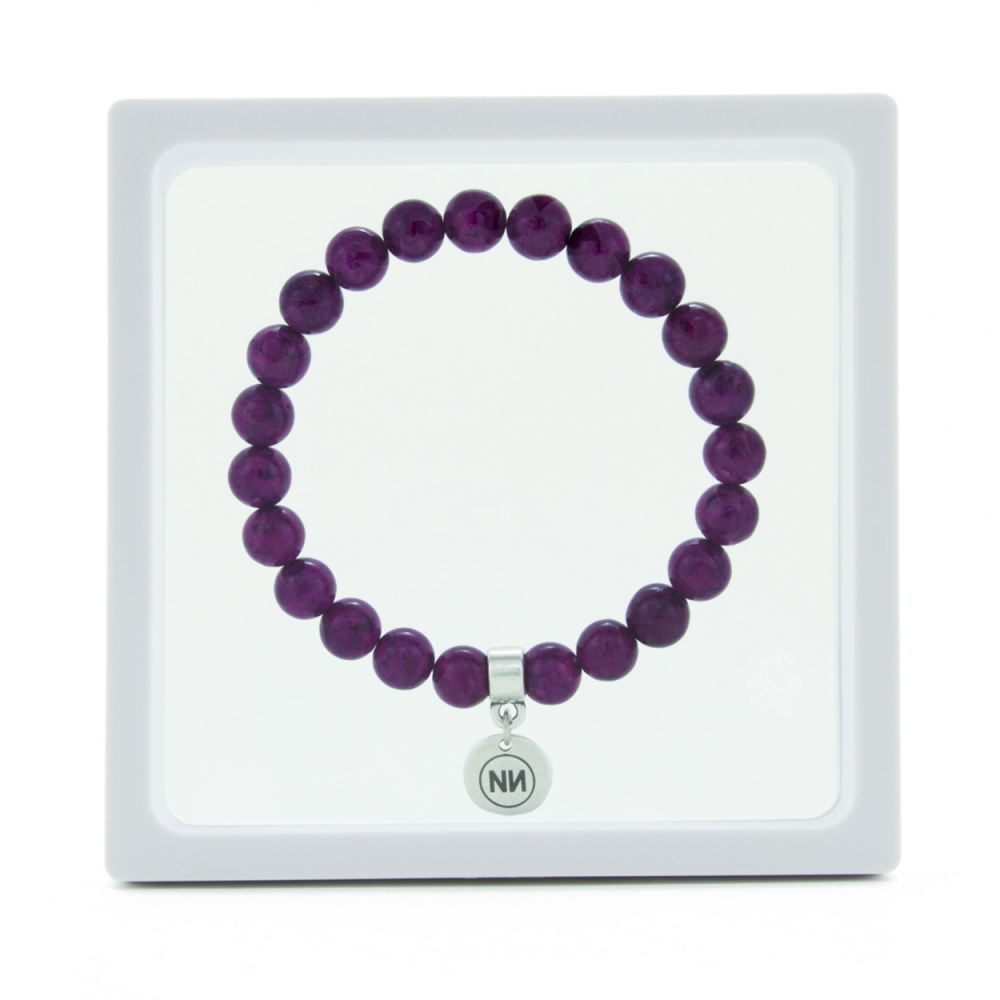 Nature of amethyst marble bracelet with pendant