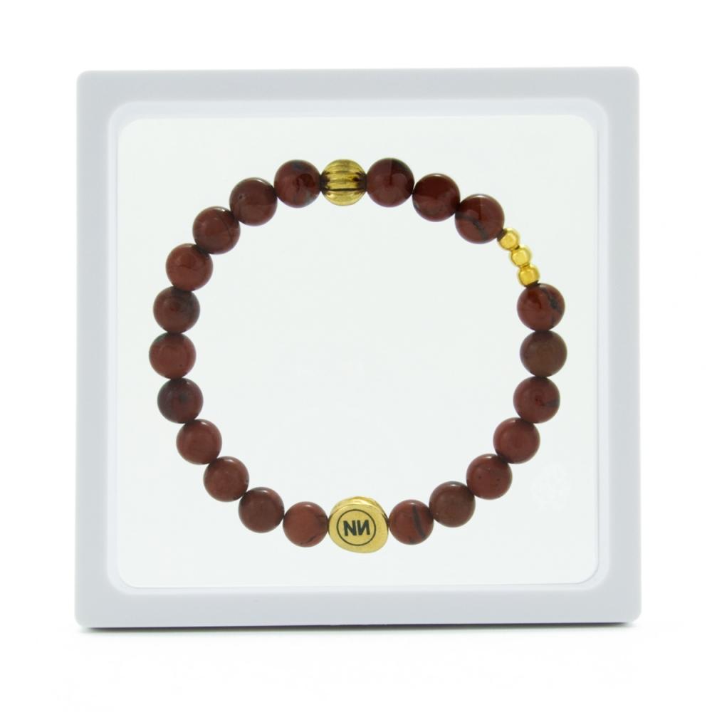 Braccialetto Golden Spiral e Diaspro rosso
