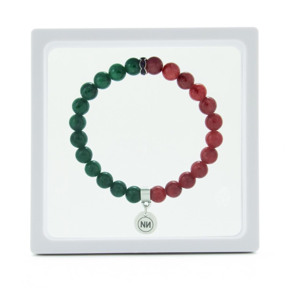 Armband Erdbeere und Minze