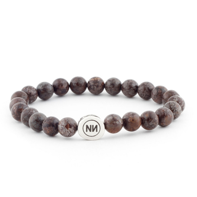 Brown snowfall bracelet