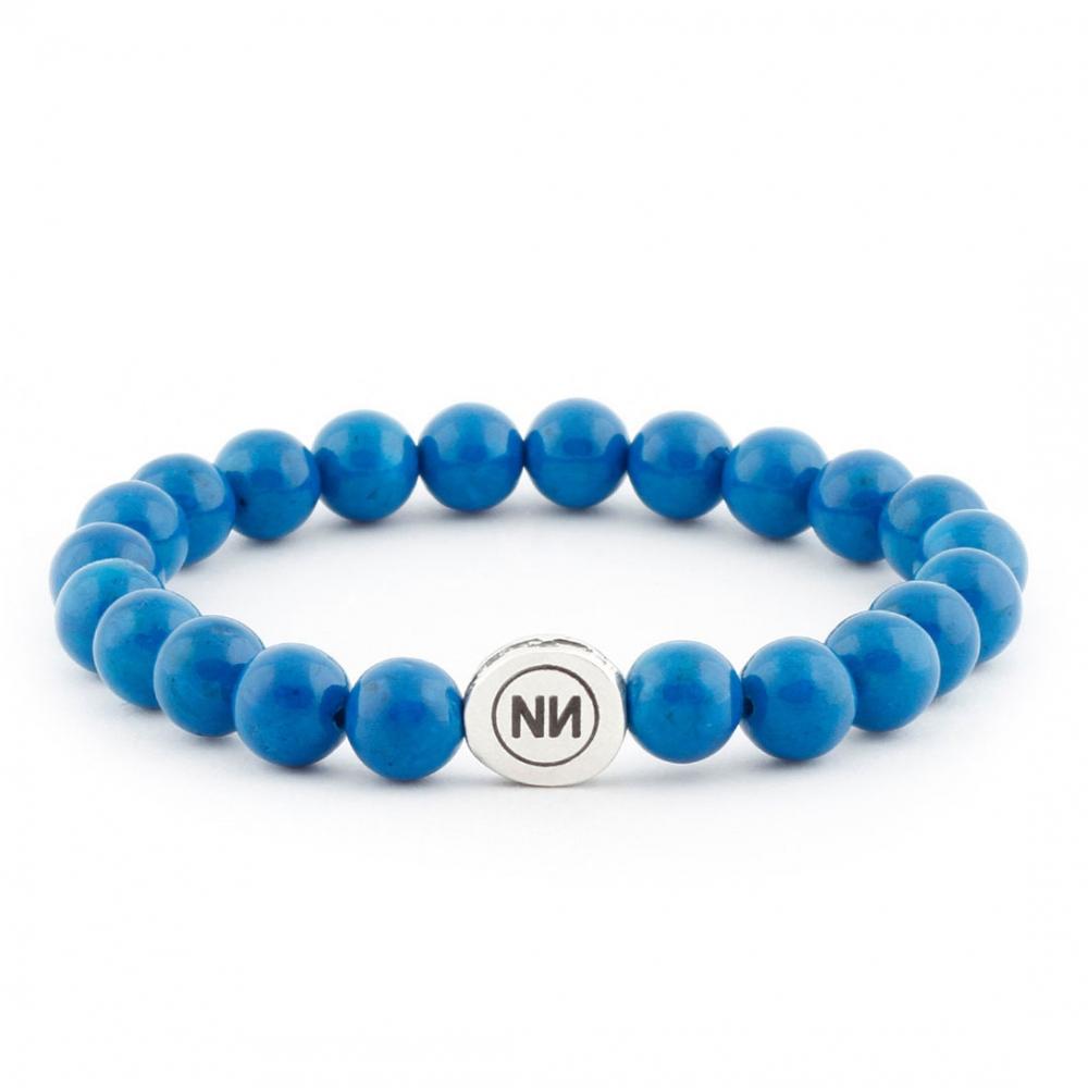 Pulsera naturaleza de mármol azul
