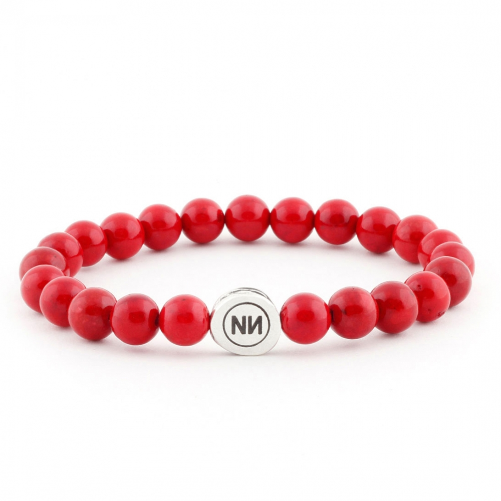 Nature of coral marble bracelet