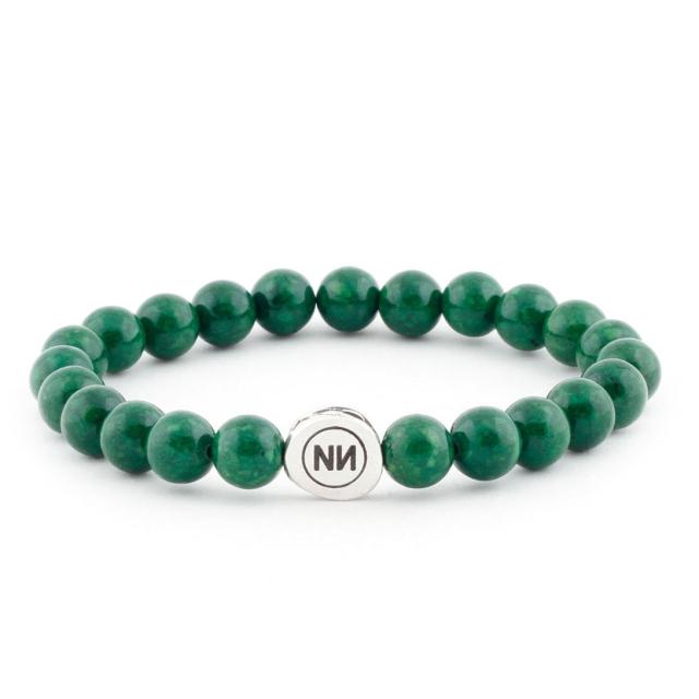 Pulsera naturaleza de mármol esmeralda