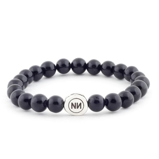 Armband der Natur aus schwarzem marmor