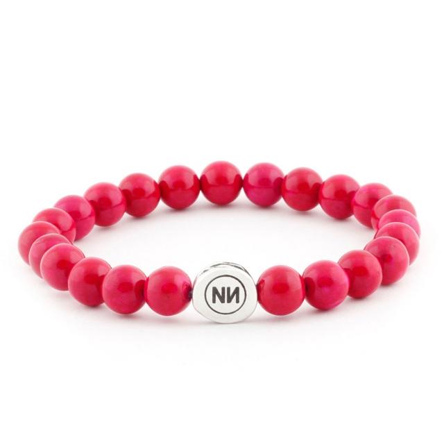 Armband der Natur pink marmor