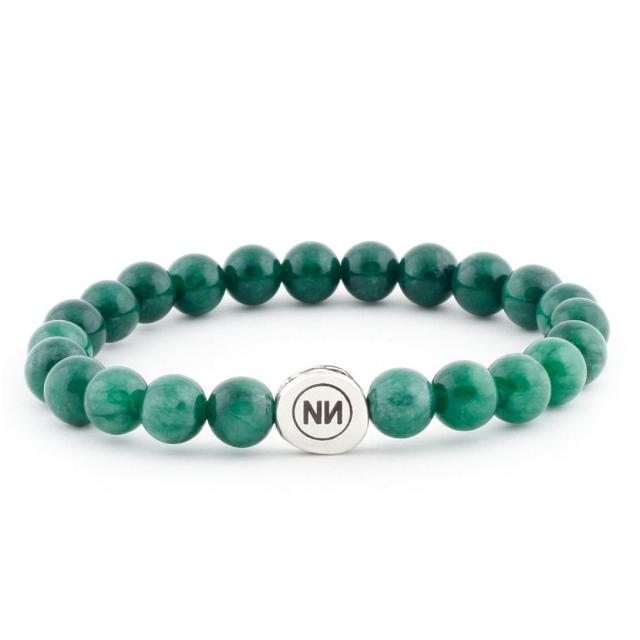 Armband der Natur grünem marmor