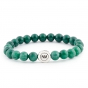 Nature of green marble bracelet