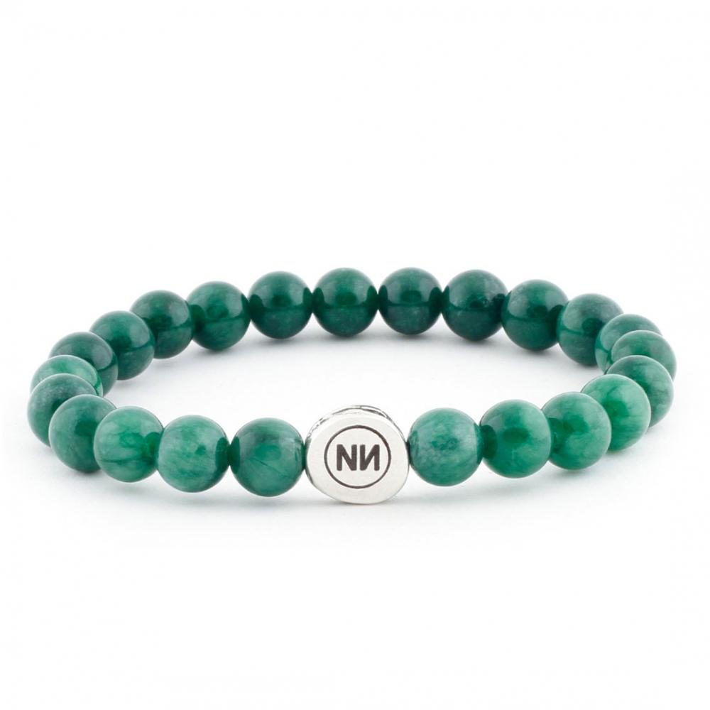 Bracelet nature marbre vert
