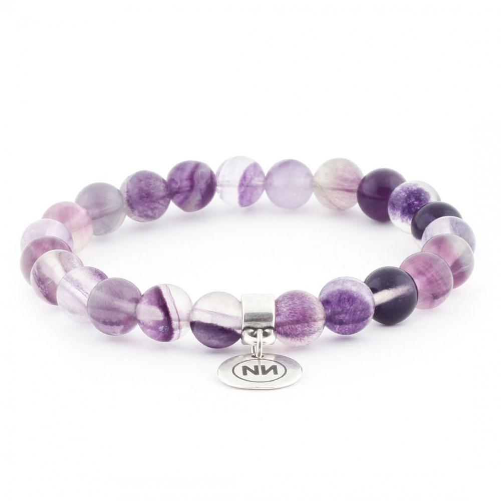 Fluorine hazy bracelet with pendant