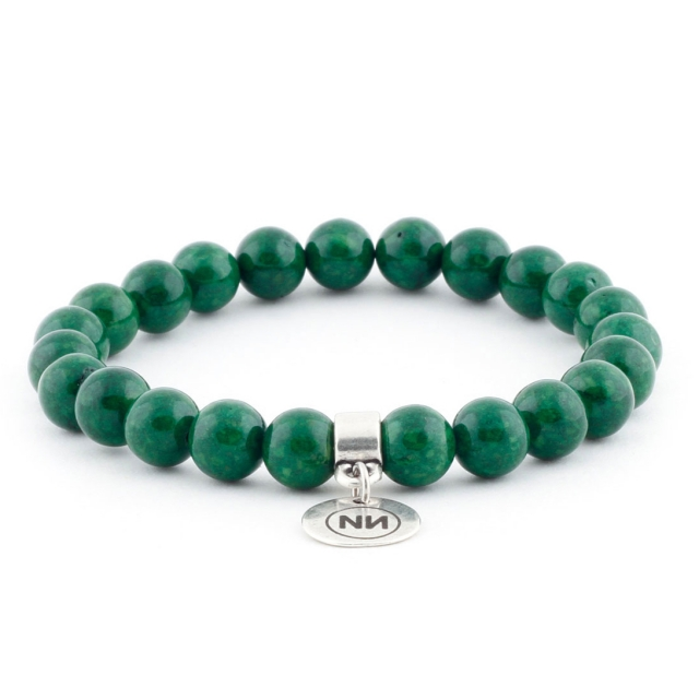 Armband der Natur smaragd marmor met Anhänger