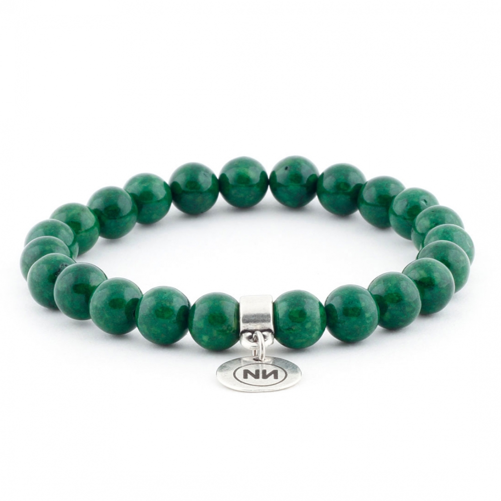 Nature of emerald marble bracelet with pendant