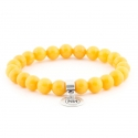 Imperial amber bracelet with pendant