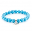 Imperial light blue bracelet with pendant
