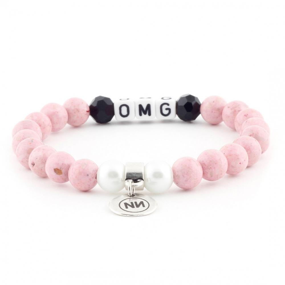 Pulseira OMG-de-rosa