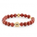 Armband Goldene Spirale und red Jasper