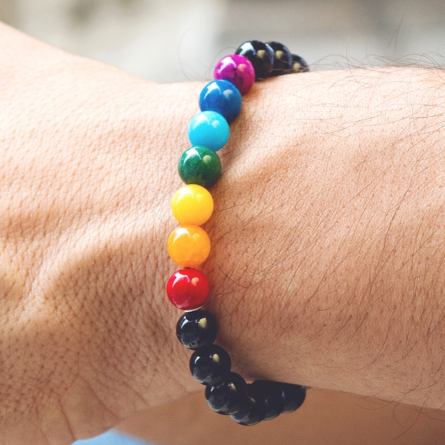 Braccialetto Orgoglio arcobaleno