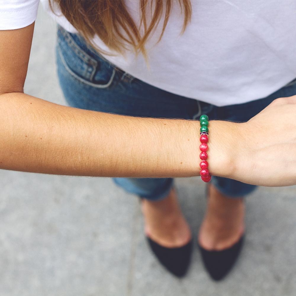 Bracelet Fraise et à la menthe