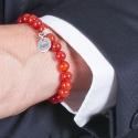 Bracelet Carnis cornaline avec pendentif