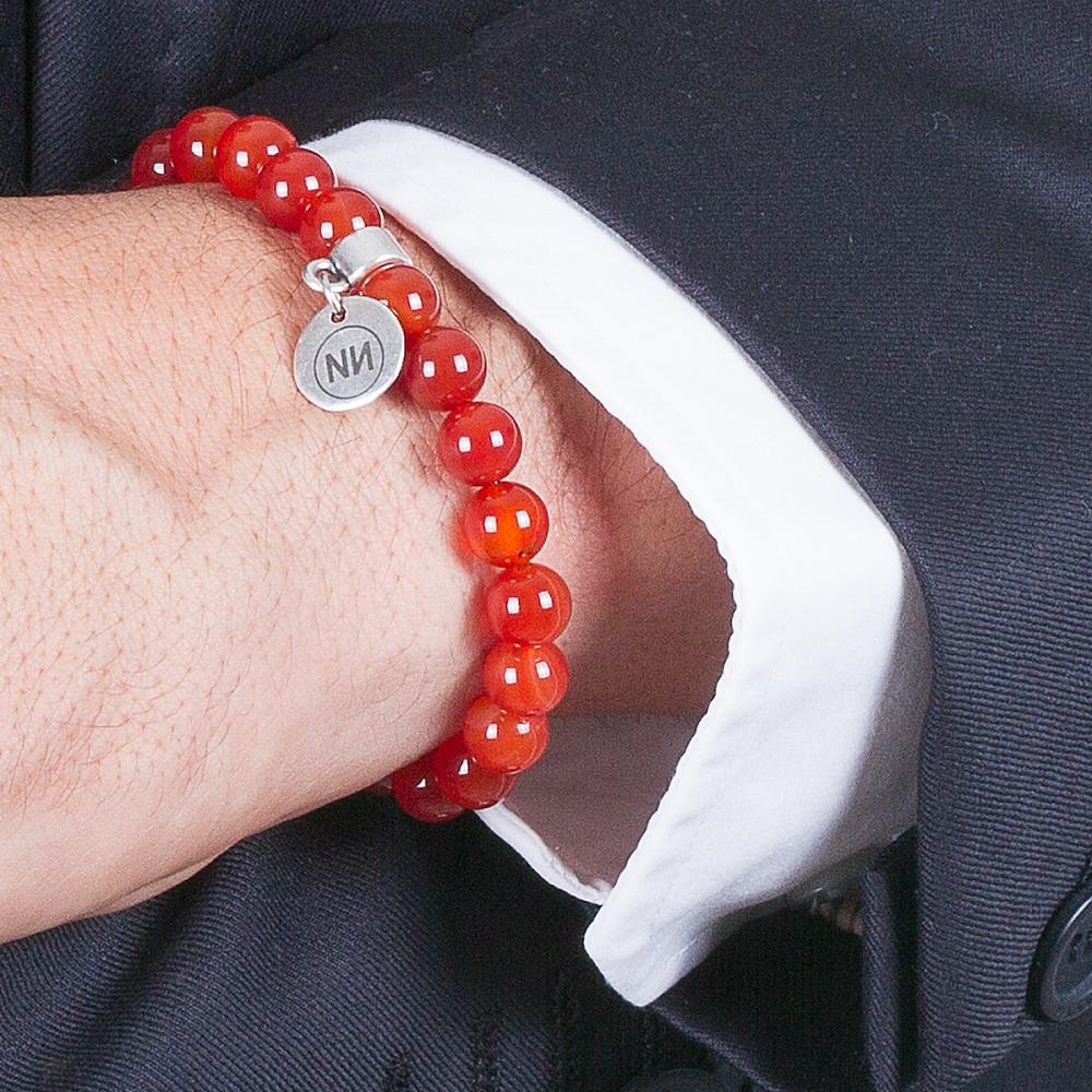 Armband Carnis Karneol met Anhänger