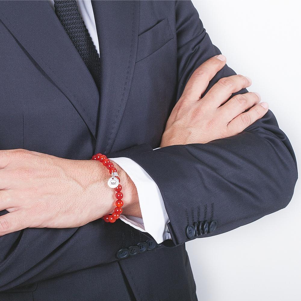 Armband Carnis carnelian met hanger