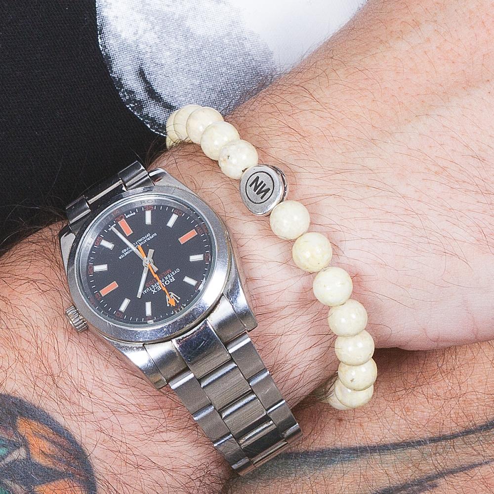 Nature of sand marble bracelet