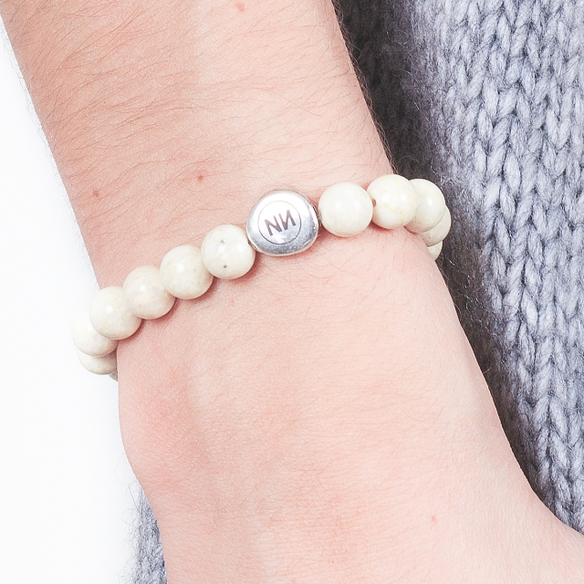 Armband der Natur cremefarbenen marmor