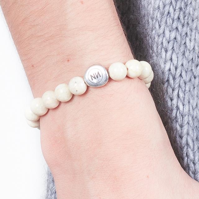 Bracelet nature marbre crème