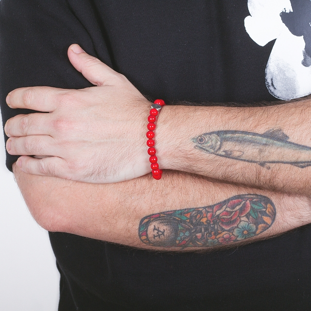 Armband der Natur coral marmor