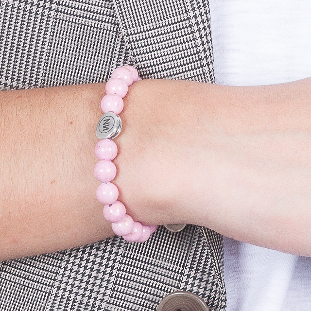 Bracelet nature marbre rosâtre