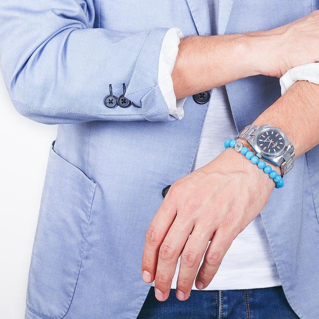 Armband Kaiser hellblau